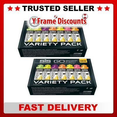 SIS GO Isotonic Energy Gel Variety Pack 14 x 60ml Sachets x 2 Boxes