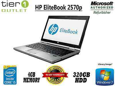 HP EliteBook 2570p Core i5 3360M 2.80GHz, 4GB RAM 320GB HDD Windows 7 Pro Laptop