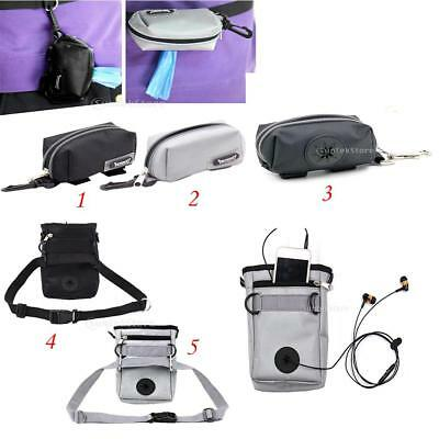 Assorted Portable Pet Dog Cat Toy Treat Pouch Travel Bag with Poop Bag Dispenser