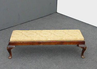 Antique Vintage French Provincial Long Gold FOOTSTOOL Bench
