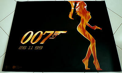 THE WORLD IS NOT ENOUGH James Bond 007 Authentic TEASER POSTER QUAD