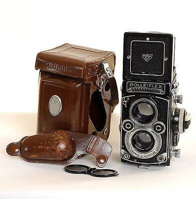 Rolleiflex 3.5F Zeiss Planar TLR 6x6 Film Camera (0055)