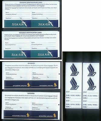 UNUSED ! Singapore Airlines / Silk Air luggage Tag / Sticker / Labels (Lot # 1)