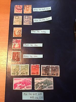 Selection Of Old Stamps From Japan - 1876 to 1951.