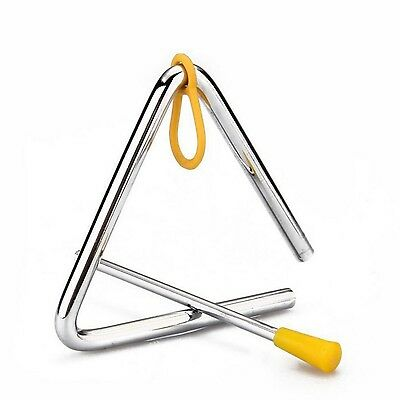 """6"""" Children Toy Musical Instrument Rhythm Band Triangle Educational Percussion"""