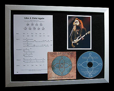 THE MISSION Like A Child Again TOP QUALITY CD FRAMED DISPLAY+EXPRESS GLOBAL SHIP