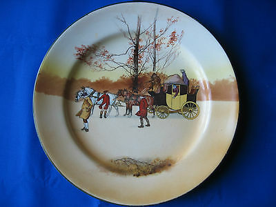 """Royal Doulton Seriesware Old English  Coaching Scene """" Unscheduled Stop"""" Plate"""