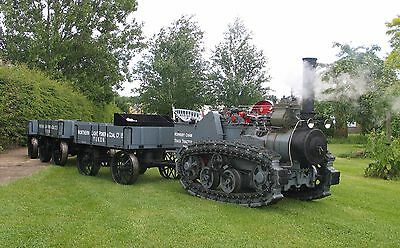 Hornsby Chain Track Tractor. 1/3rd Scale - Steam Traction Engine