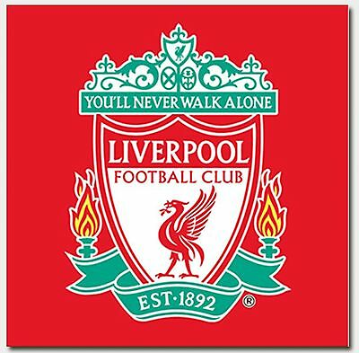 LIVERPOOL FC FOOTBALL CLUB RED FACE CLOTH FLANNEL 100% COTTON 30x30CM OFFICIAL