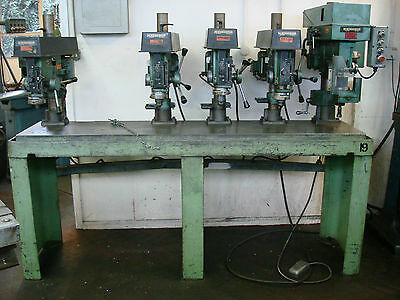 Meddings Bench Of 4 Drills & A Tapping Machine