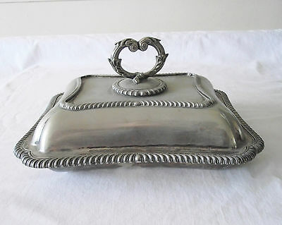 Beautiful Vintage Silver Plated Entree / Serving Dish TB&S