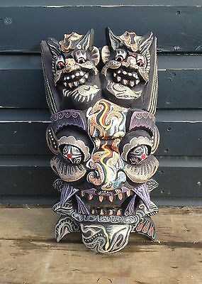 Hand painted wooden mask tiki