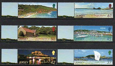 Jersey 2009 Scenery (2Nd Series) (Sepac) M/m Set Of 6 Cat £9+