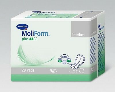 MoliForm Soft - Plus Unisex Incontinence Pads - Pack of 28 CHEAPEST ON EBAY!