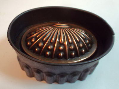 Antique Victorian Tin & Copper Shell Motif Jelly Mould