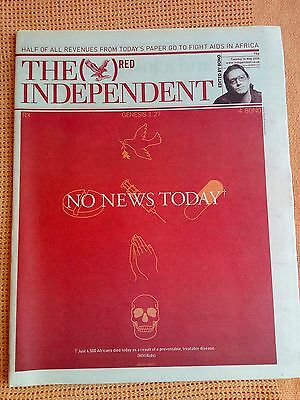 Rare British newspaper edited by Bono from U2 and designed by Damien Hirst 2006