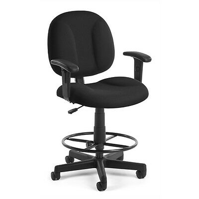 OFM Comfort Series Superchair with Arms and Drafting Kit, Black