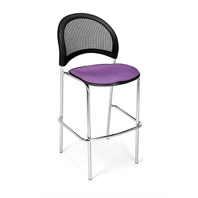 OFM Moon CafT Height Chair, Plum