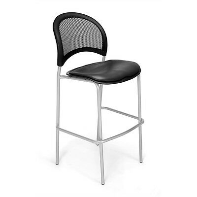 OFM Moon CafT Height Vinyl Chair, Charcoal
