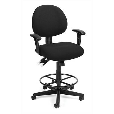 OFM 24 Hour Computer Task Chair with Arms and Drafting Kit, Black