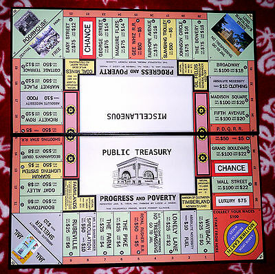 """""""Progress and Poverty"""" Game Set, 1906 Style Repro/The Landlord's Game (Monopoly)"""