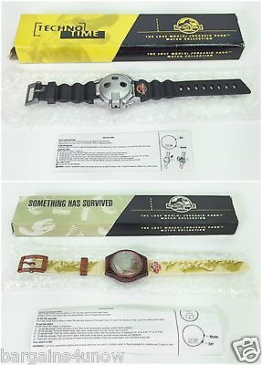 Lot Of 2 Burger King Jurassic Park The Lost World Watches Nib