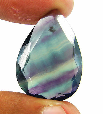 47.00 Ct Natural Fluorite Loose Pear Cut Gemstone Stone - 11513