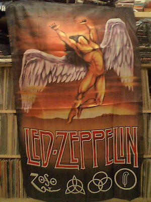 LED ZEPPELIN  rare TEXTILE POSTER FLAG   rock psych  pink floyd  lp cd t shirt