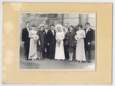 WEDDING Bride Groom & Guests - Vintage Photograph c1960s by Ireland of Kirkcaldy