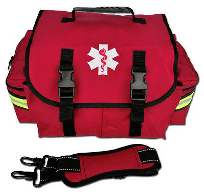 Medical Emergency Paramedic Small EMT First Responder Bag With Dividers - Red