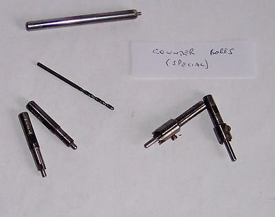 Gauge O – 7mm – Tools - Special Counter Bores x4 – c4.5 to 9.4 mm - see pics