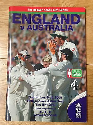 Official Programme 2005 Ashes Series 5th Test (Oval) SIGNED By Stephen Harmison