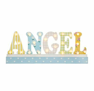 LED Word Sign Angel Shelf Sign by Shudehill Giftware