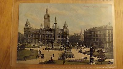 Postcard.George Square,Glasgow. Very early. Valentines.