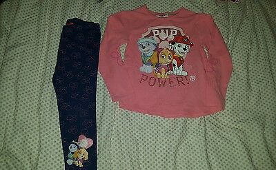 girls age 3-4 'paw patrol' outfit set
