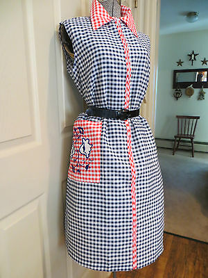 Vtg. 60's Cotton Shift Summer Day Dress With Tag Size Xl
