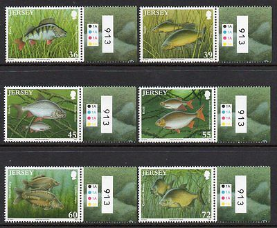 Jersey 2010 Freshwater Fish M/m Set Of 6 Cat £9+