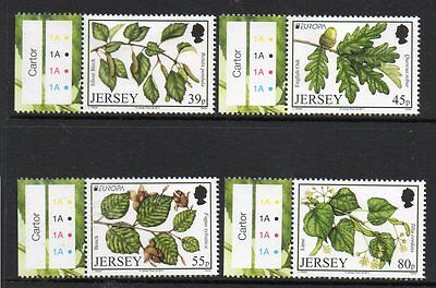 Jersey 2011 Europa, Forests M/m Set Of 4 Cat £6+