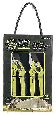 Spear & Jackson Kew Gardens Razorsharp CUTTINGSET3K Bypass and Anvil Secateurs S