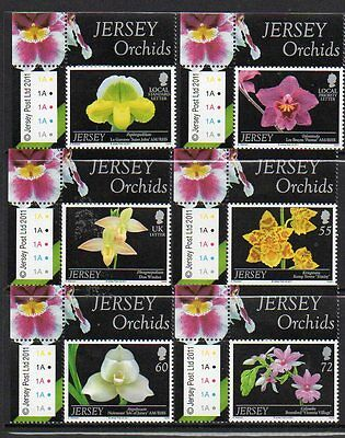 Jersey 2011 Orchids (7Th Series) M/m Set Of 6 Cat £9+