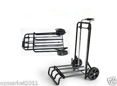 * New Convenient Portable Two Wheels Collapsible Shopping Luggage Trolleys