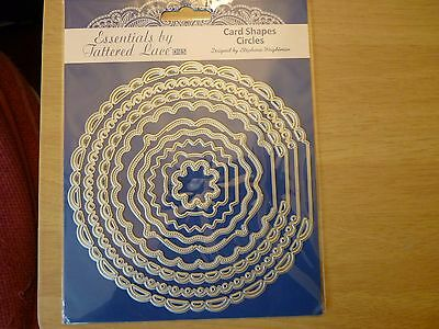 Tattered Lace Essentials, Card Shapes Circles. New. 9 dies to make shaped cards
