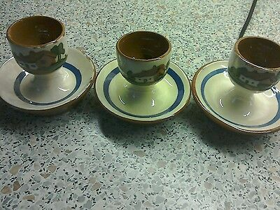 Dartmouth pottery Eggcups