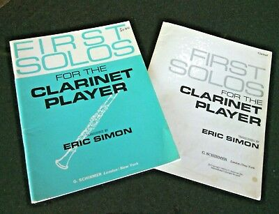 First Solos for the Clarinet Player By E.Simon with Piano Copy Essential Method