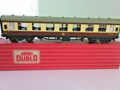 Triang Hornby Dublo Railway Model 4060 1st Class WR Open Corridor Coach 00 Scale
