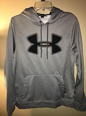 Under Armour Men's Size Small Loose Gray Hoodie RA 96510. CA 41095