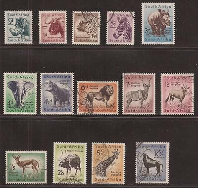 SOUTH AFRICA  1954  Scott nr 200 to 213  COMPLET SET