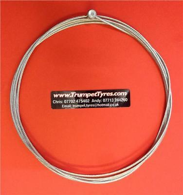 Vespa P 200 E 78 81 Clutch Cable Large Barrel Nipple, High Strength Braided Wire