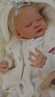 Beautiful Realistic Reborn Baby Girl Doll from 'Liam' Sculpt by M.May