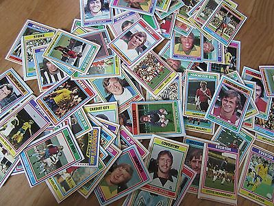 vintage 1970s A&BC FOOTBALL Club Vintage GUM CARDS job lot - 81 cards assorted